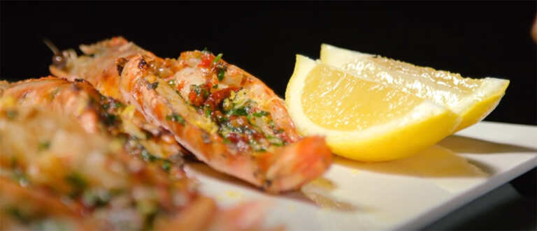 Cutler & Co's wood-grilled prawns with fried garlic and chilli oil