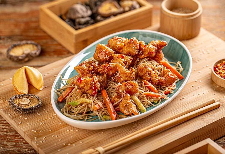 Chicken with teriyaki sauce